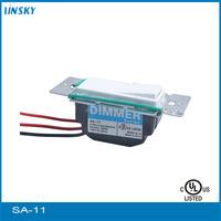 Shanghai UL listed electrical 120V 60HZ 600Watt AC power Single Pole 3-Way White Light Slide Compact Fluorescent Led Dimmer