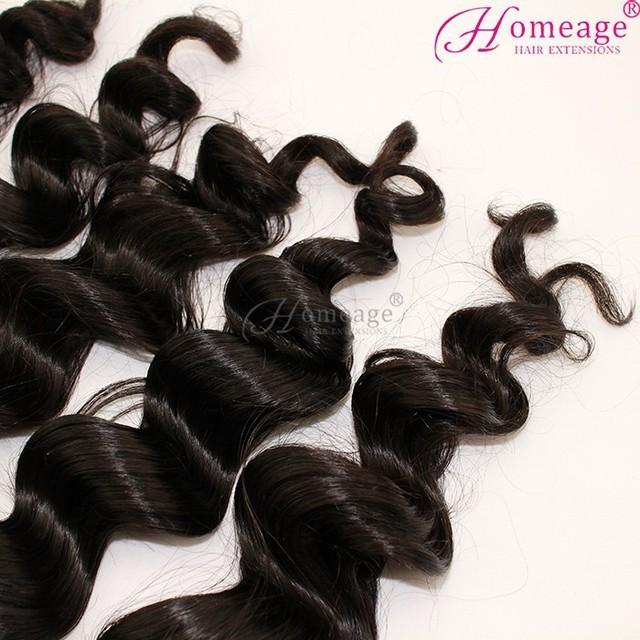 Homeage human hair high quality double weft virgin 100% raw peruvian hair vs malaysian hair