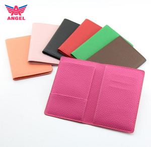 Wholesale custom pu leather travel document passport cover holder
