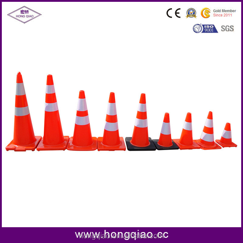 28inch Indonesia Standard rubber base Flexible PVC Traffic Cones