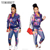2017 Full Sleeve Colorful Floral Print