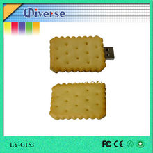 Free samples best wholesale biscuit custom pen drive