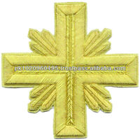 Byzantine Liturgical Embroidered Crosses Gold Bullion