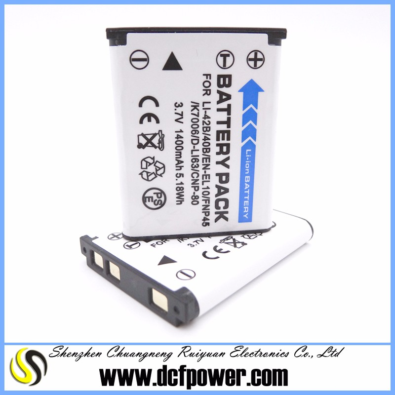 NEW portable battery pack compatible with CNP80 K7006 for Exilim EX-Z28SR EX-ZS5 EX-ZS6 EX-ZS6BK D-Li108 DLI108