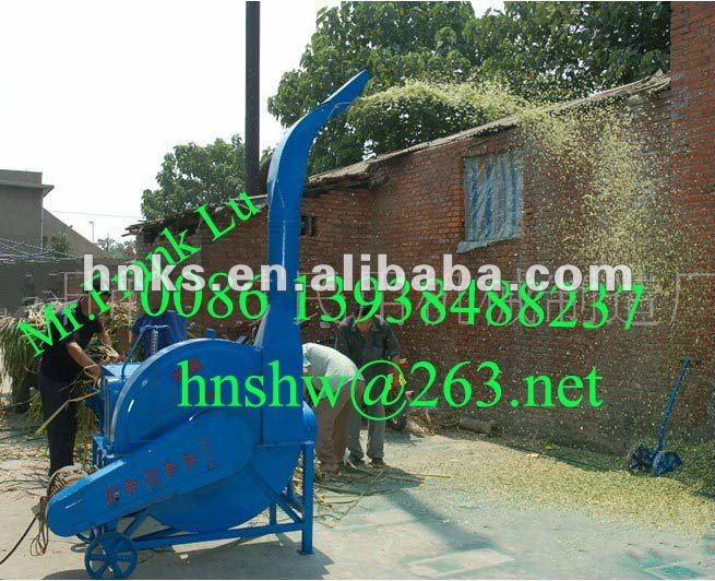 Auto-feeding agricultural electric or motor chaff cutter for animal