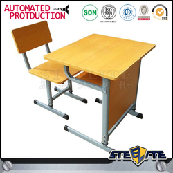 China manufacturer single classroom combo school desk and chair in stock