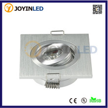 AC85-265V Brush Silver Aluminum mini 3W Recessed led ceiling down light fixture kits