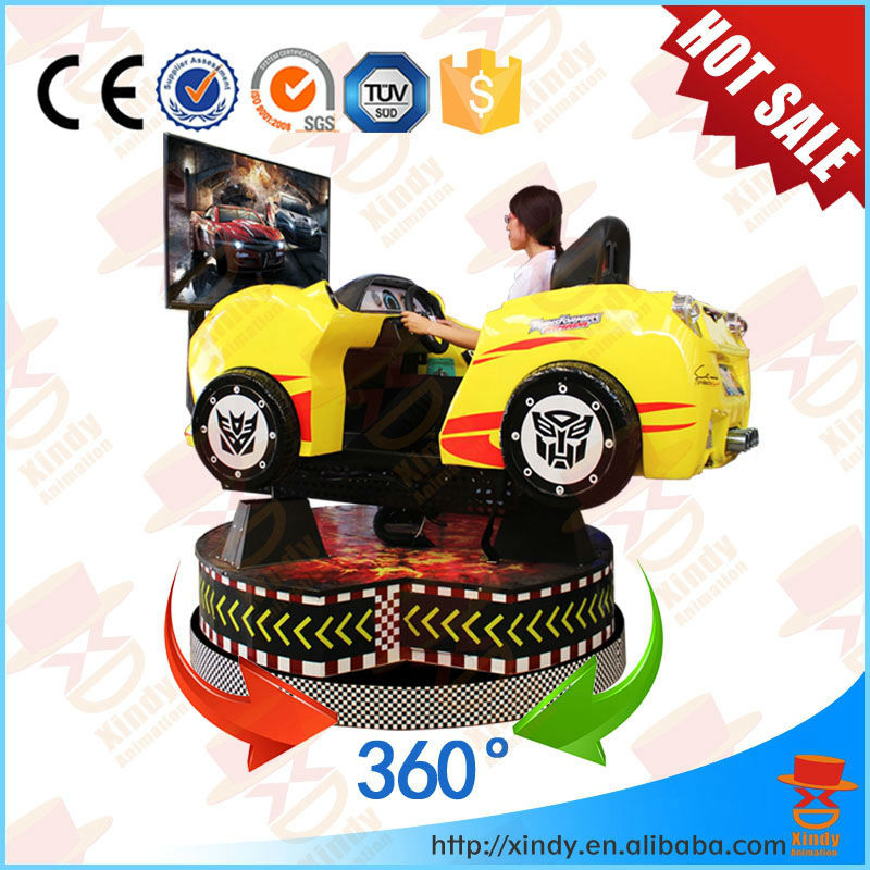 2017 hot sale shopping mall 9d cinema arcade simulator horse racing game machine need for speed game car racing