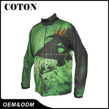 custom made fishing fish shirts in OEM service