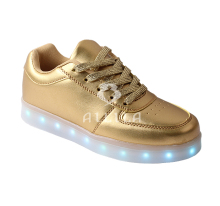 Men hot-selling USB charging light flash LED shoes sneakers