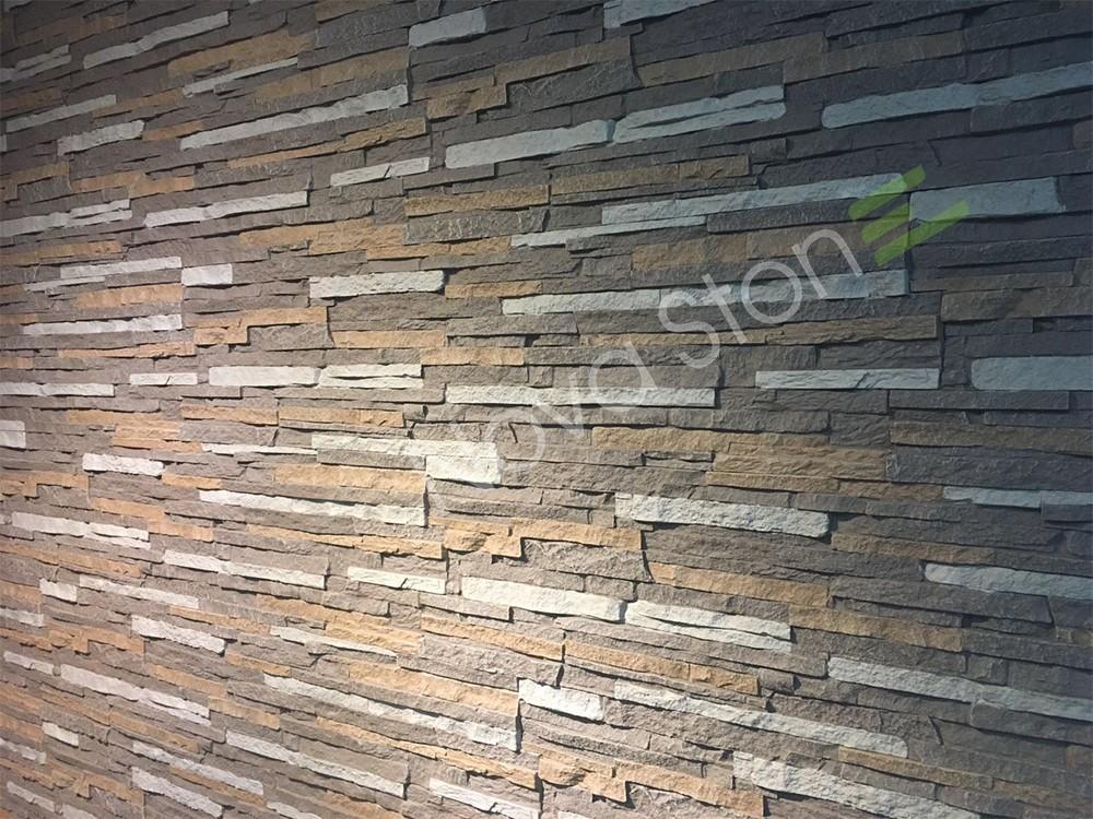 Stone Foam Panels : Polyurethane foam stacked stone panels cladding