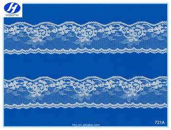 Hongtai wholesale african velvet lace fabric embroidery lace trim