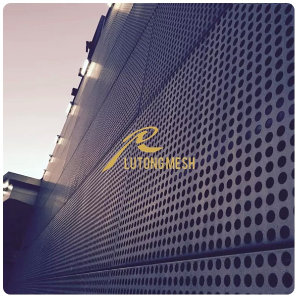 3mm round hole Perforated metal mesh decorative facade