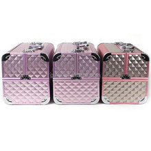 Fashion Aluminium Two Layer Cosmetic Case For Makeup Artist