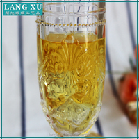 wholesale clear glass champagne flute