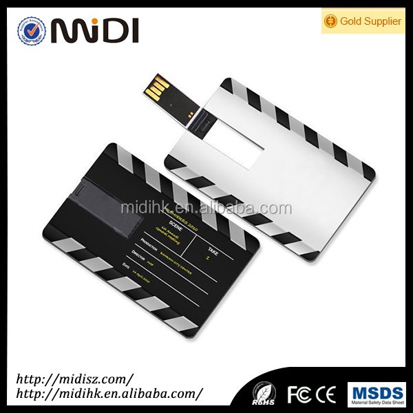 Marketing Gift credit card USB flash drives, bank card shape and put into wallet high quality 64 GB