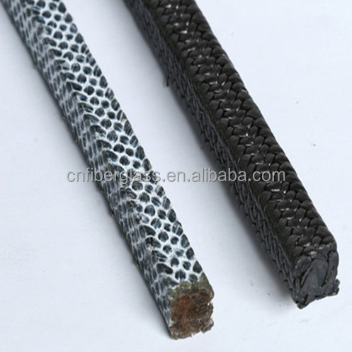 protect self-extinguish Large Diameter Fire retarded Carbon Fiber Packing With PTFE