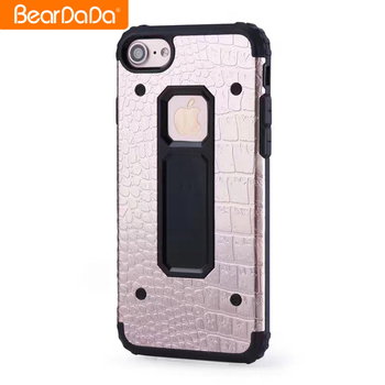 Flexible Price Crocodile Pattern metal tpu case cover for iphone 6 plus case