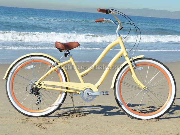 "26"" wheel size and aluminum alloy rim material lady beach cruiser bicycles/bike/beach bike KB-BC-M160004"