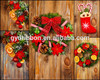 PET/PVC fashion Wholesale jasmin flower garland styrofoam wreath Christmas fabric decoration family party tinsel decor