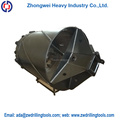 double bottom rock mud drilling bucket for excavator
