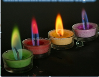Flames Colour glass tealight candle