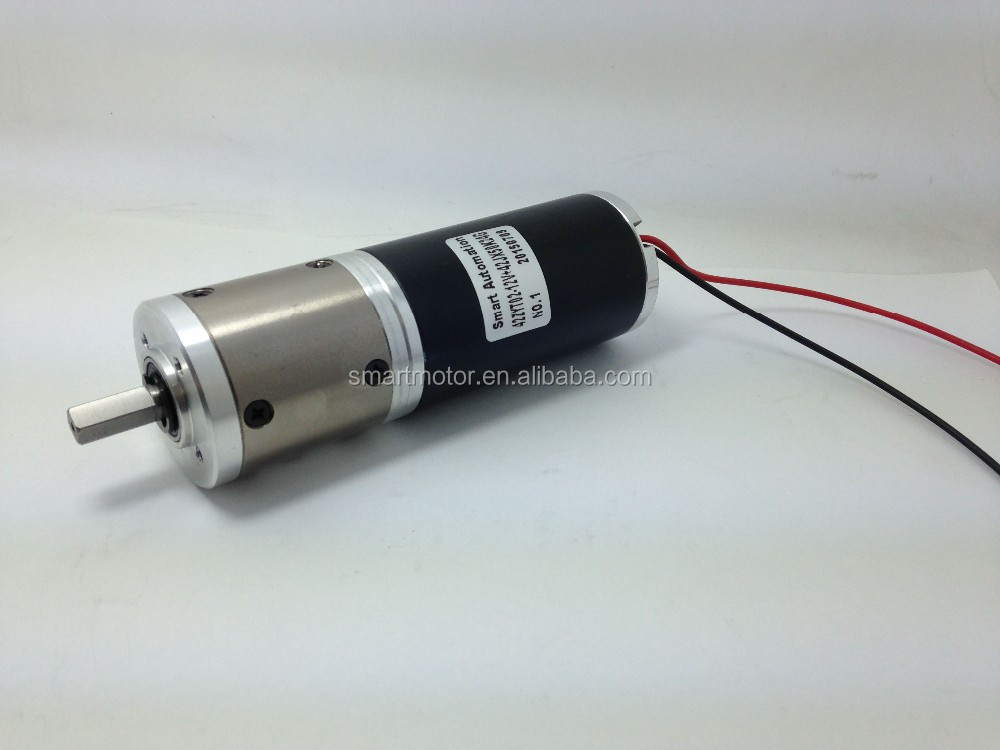 O.D42mm High Torque Brush Pmdc Motor, 12v 24v 36v 40v, rated torque upto 100mNm