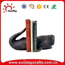 Wholesale high quality resin whale souvenir bookends decoration for sale