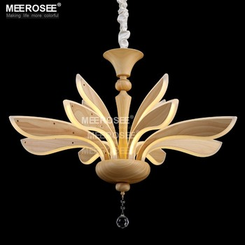 Wood Color Modern Chandelier LED Lights MD81775