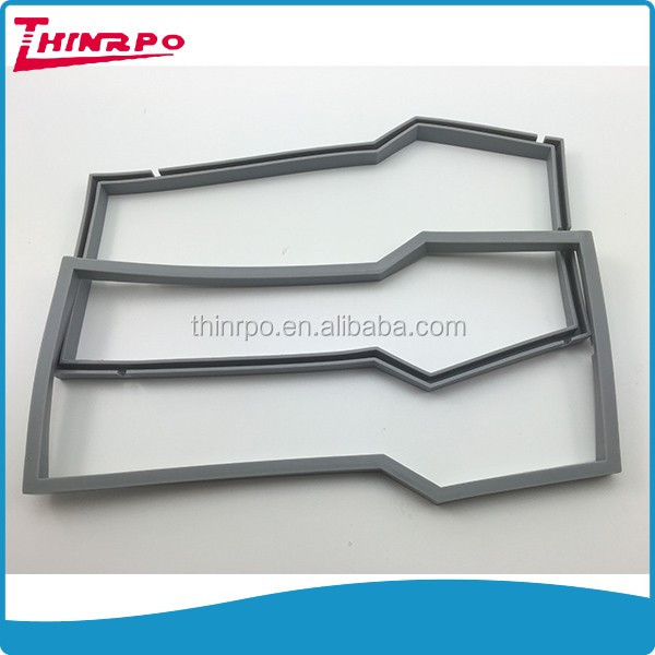 Custom shape molded silicone rubber seal part