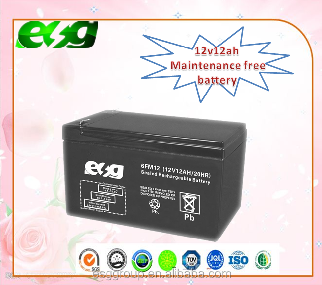 12v12AH Deep cycle battery Maintenance free battery rechargeable battery
