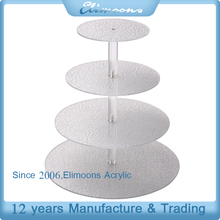 Stacked Wedding Cake Cupcake Stands /4-Tier Round Verbier Silver Acrylic Cupcake Stand and Towers Tree