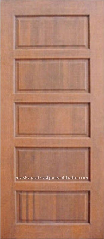 Solid Wood Five Panel Door