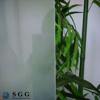 China factory 6mm thick clear obscure frosted glass