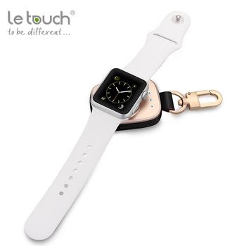 Alibaba wholesale MFi certified Keychain Power bank 700mAh Wireless charger for Apple Watch from LeTouch