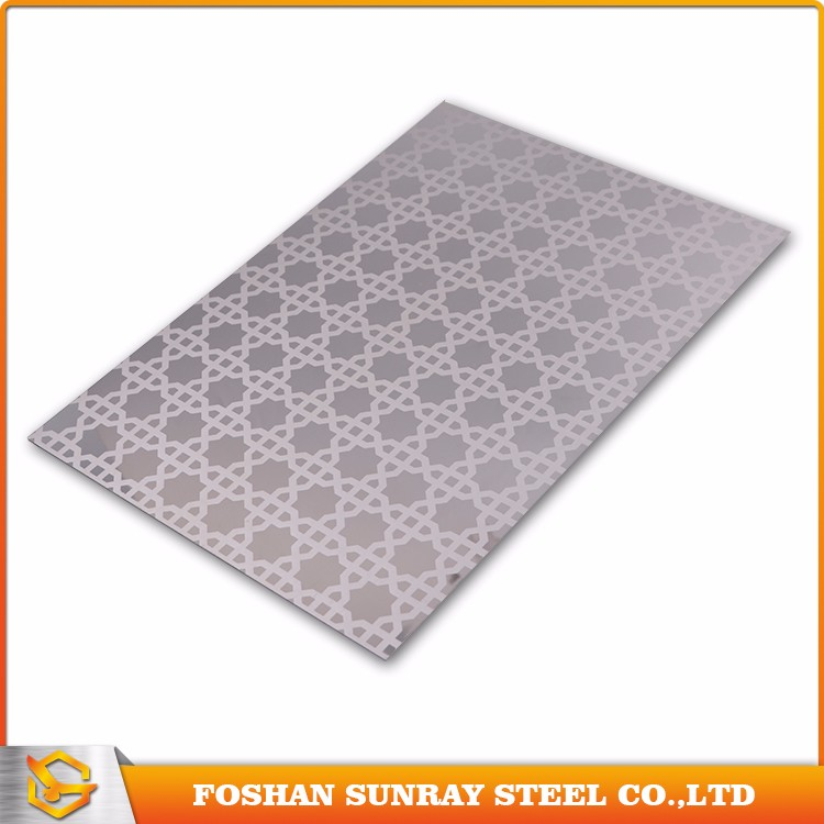 Customized stainless steel ll holes/water cutting notchs/acid etched for building materials
