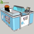 Blue color dessert shop counter and dessert kiosk design for sale