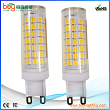 CE Rohs g9 dimmable led light bulb 8w deco lamp yellow warmwhite 2800k g9
