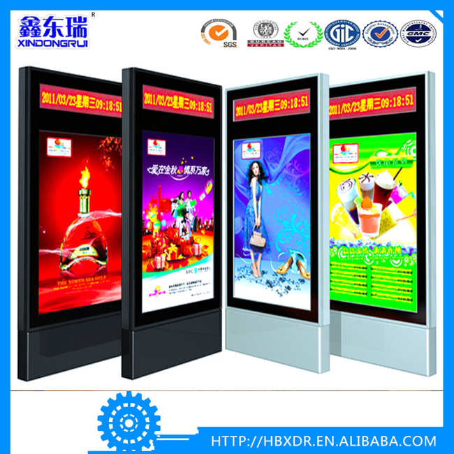 Custom Made Street Lamp Post Electronic Display aluminum Led Advertising Lightbox Light box