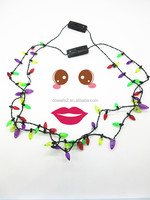 Festival&Party suppliers Wholesale Christmas LED flashing Light decoration Necklace