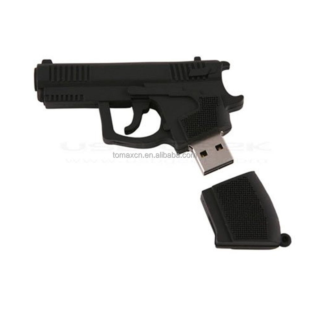 China factory custom pistol cartoon usb flash drive free sample