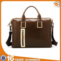 Top quality brown leather business briefcase for men office briefcase bag