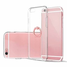 transparent crystal clear case tpu phone case mobile with mobile phone ring holder