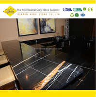 Cheap Polishing Black marquina marble bar table top sets