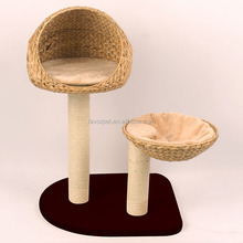 New Style cat tree parts , brown funny Banana leaves cat tree