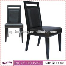 Wooden dining room chairs black lacquer&Modern hot-sell black leather dining chair &Painting furniture black lacquer wood chair