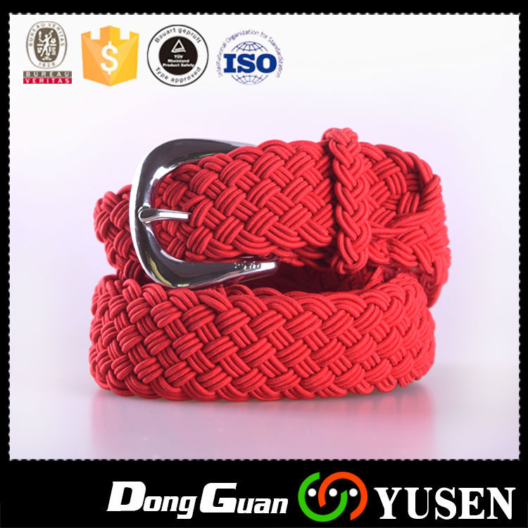 High Stretch Hot Selling Cotton Red Fabric Belt For Women
