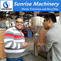 recycled waste pe polythene bag scrap granule making machine