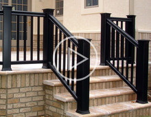 Best type of black porch railing