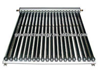 Wall mounting vacuum tube heat pipe solar collector